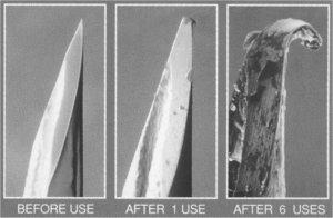 Så här ser det ut när man använt sin nål några gånger